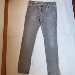 Decree Distressed Light Gray Jeans